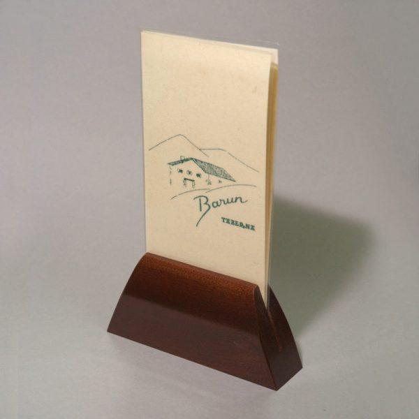 Base carta menú madera