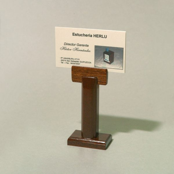 Porta-tarjetas alto madera