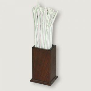 Porta pajitas madera