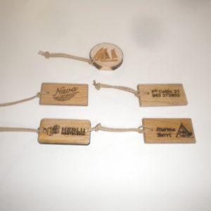 Llavero madera grabado laser