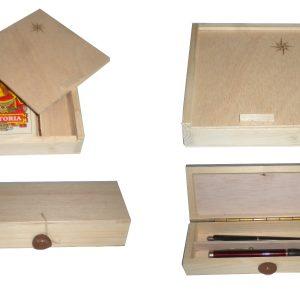 Estuches y cajas de madera