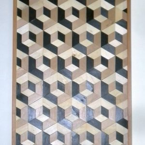 mosaico de madera efecto 3d