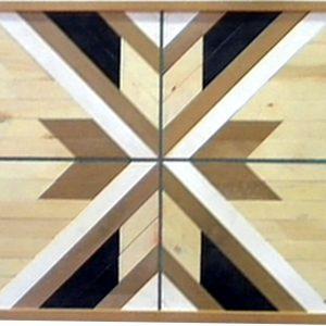 mosaico e madera efecto alas
